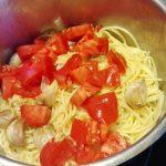 spaghetti zczosnkiem