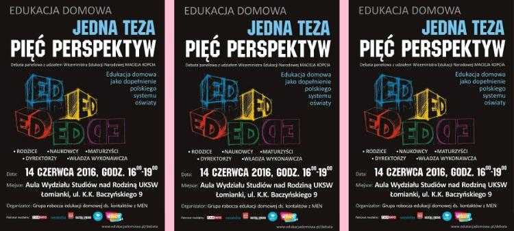 Debata natemat edukacji domowej